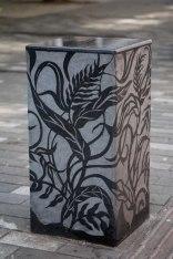 St Paul's Way, London, Granite Bollards