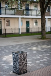 St Paul's Way, London, Granite Bollards