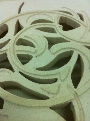 Stone Circle, detail, limestone