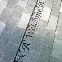St Paul's Way, London, Words in Stone, Granite