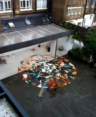 Transient Matters installation, Bow Arts Courtyard